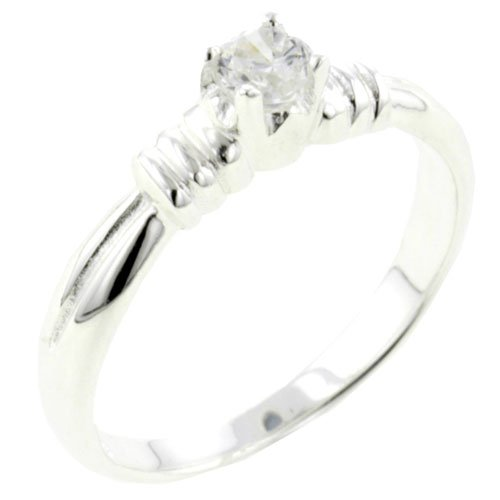 Pugster Round Cz Promise Ring Gift Fashion Jewelry