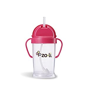 Zoli Baby BOT Straw Sippy Cup - Pink - 9 oz