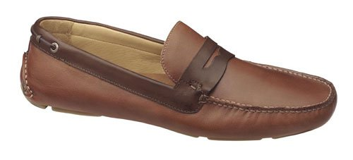 Johnston & Murphy Men's McKinnon Penny Loafer,Tan/Brown Full Grain,11.5 M US