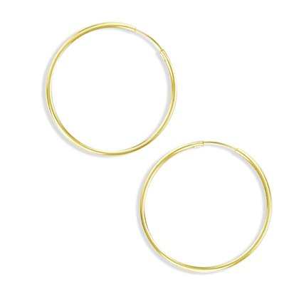 Hoop Earrings 14k Yellow Gold Classic Huggie 1/2 inch