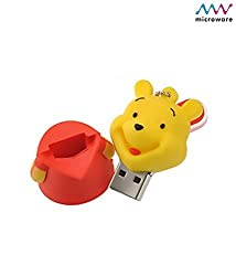 Microware 16GB Lovely Winnie The Pooh ShMicroware Designer Pendrive