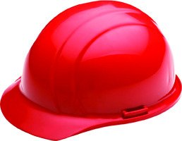 ERB 19764 Americana Cap Style Hard Hat with Slide Lock, Red