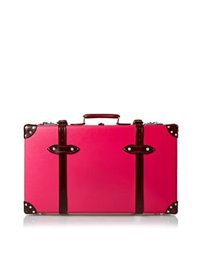 Globe-Trotter Special Edition 26'' Centenary Candy Suitcase, Pink/Burgundy