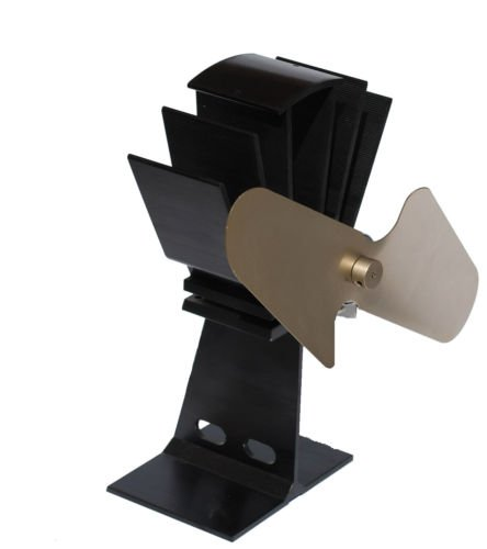 First4spares Warm Air Fan For Wood / Coal Burning Gas Stove Tops - Gold Fan
