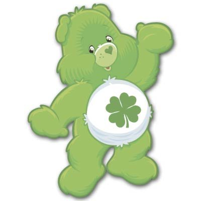 Care Bears Good Luck Bear Kids Vynil Car Sticker Decal - Select Size front-648658
