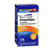 Bausch And Lomb Preservision Eye Vitamin And Mineral Supplement, Areds Lutein - 120 Softgels, 2 Pack