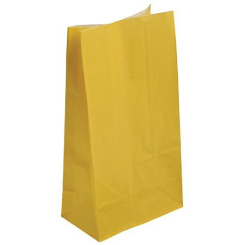 Lot of 12 Yellow Paper Party Bags - 10""
