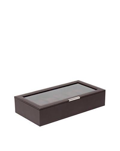 WOLF 12-Watch Lidded Box, Brown