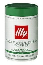 illy Caffe Decaffeinated Whole Bean Coffee (Medium Roast, Green Top), 8.8-Ounce Tins