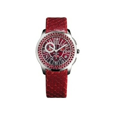 Mango Red Swarovski Crystal Ladies Watch - QM782.36.01