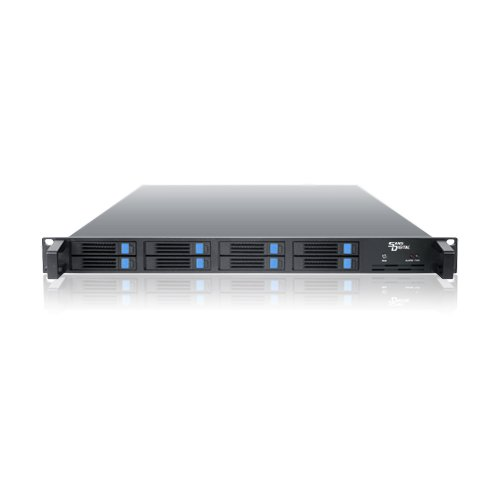 Sans Digital AS108X AccuSTOR 1U 8 Bay 2.5 Rackmount SAS/SSD/SATA to 2 mini-SAS SFF8088 JBOD Storage (Black)