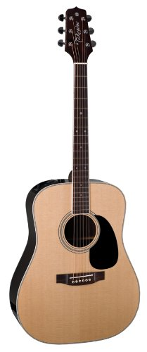 Takamine Pro Series Ef360Gf Glenn Frey Dreadnought Acoustic Electric Guitar, Natural With Case