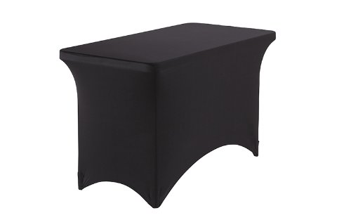 Iceberg Fabric Table Cover, Black