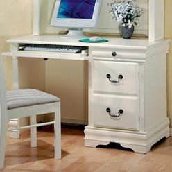 Buy Low Price Comfortable Wedgewood Single Pedestal Youth Computer Desk by Coaster (B0051PDWFY)