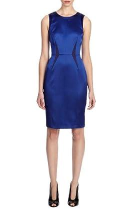 Minimal signature satin shift dress