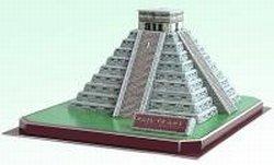 Cheap CALEBOU 3D Mayan Kukulan Pyramid In Mexico 3 D Puzzle Model Kit (B003O5KJTK)
