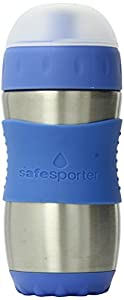 Kid Basix KB-SafeSporter - Botella infantil con boquilla (355 ml), color azul marca Kid en BebeHogar.com