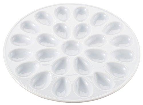 HIC Porcelain Deviled Egg Dish, 13-inch