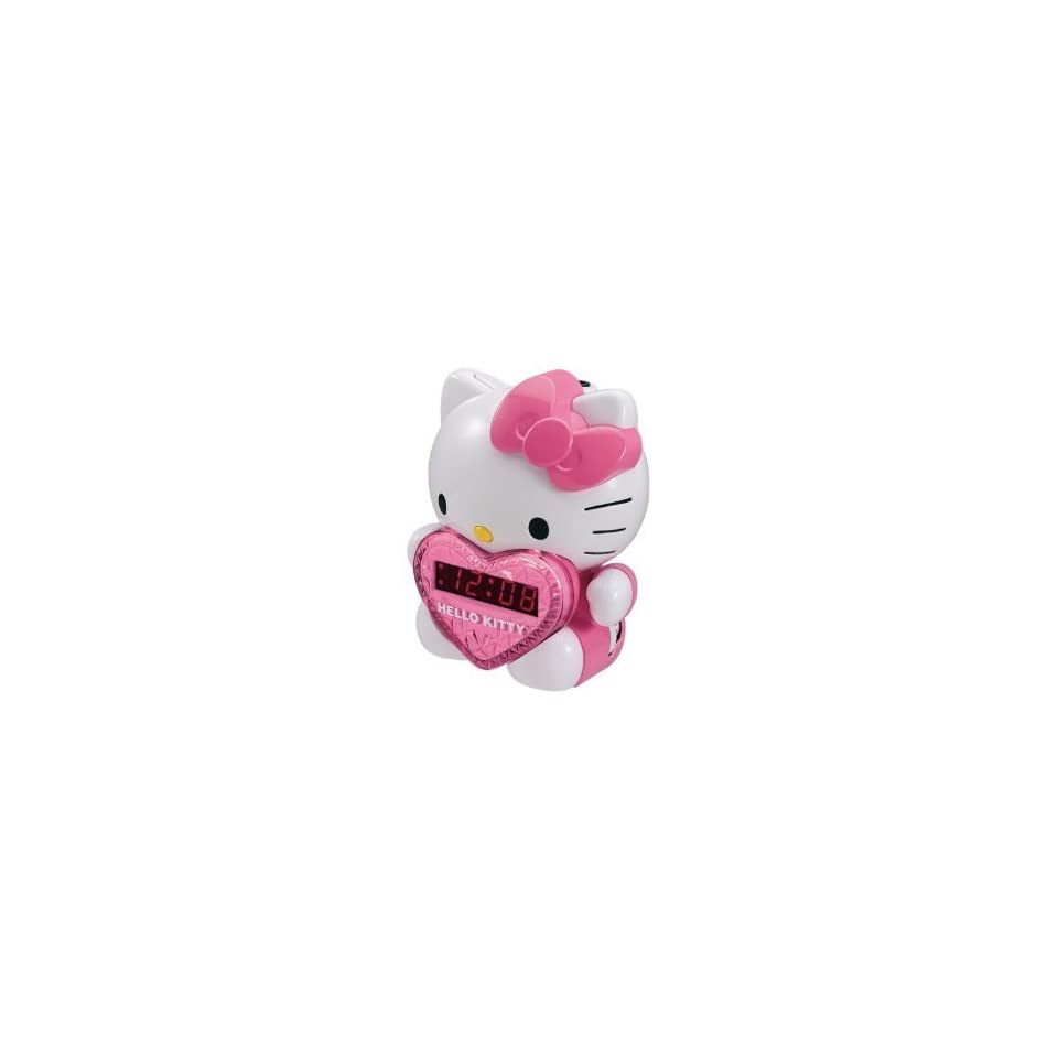 Hello Kitty AM/FM Projection Alarm Clock Radio with Battery Back up