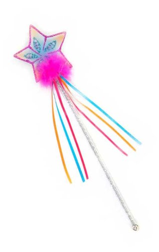 Creative Education Girls Glitter Rainbow Fairy Wand Pink Magic Costume Prop
