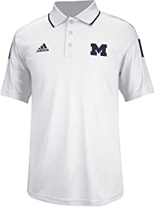 Michigan Wolverines Adidas 2014 Sideline Climalite Polo Shirt - White by adidas