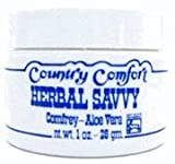 COUNTRY COMFORT Herbal Savvy Comfrey Aloe Vera 2 OZ | Pure Maple Extract