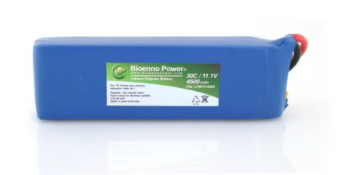 Bioenno Power Lightweight 30C, 11.1V, 4500 mAh LiPo Battery for RC Models