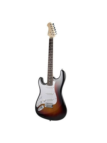 Monoprice California Classic Left-Handed Solid Body Electric Guitar - Sunburst