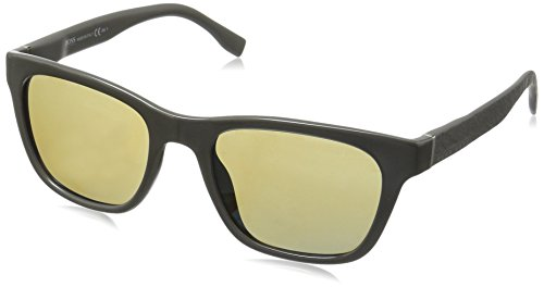 BOSS-by-Hugo-Boss-Mens-B0830s-Square-Sunglasses-GrayKhaki-Mirrored-Blue-53-mm