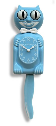 Baby Blue Kitty-Cat Clock