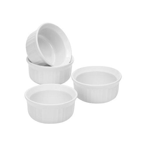CorningWare 1083954 French 4-Piece Ramekin Set, White
