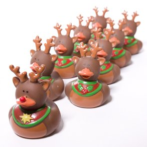 Reindeer Rubber Duckie - Buy Reindeer Rubber Duckie - Purchase Reindeer Rubber Duckie (Century Novelty, Toys & Games,Categories,Activities & Amusements,Bath Toys)