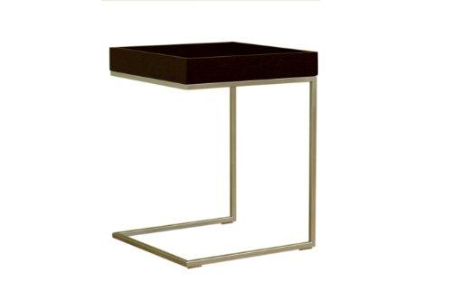 Image of Baxton Studio Black Oak Finish Wood Veneer End Table (CT-002) (CT-002)