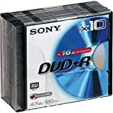 Sony DPR 120 - 10 x DVD+R - 4.7 GB 16x - Jewel Case - Storage Media