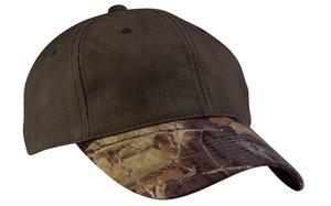 Upscale Pro Camo Baseball Hat Cap With Camo Brim - Brown/Mossy Oak