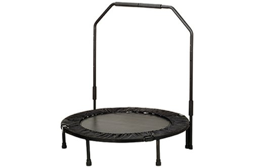 """Sunny Health & Fitness 40"""" Foldable Trampoline with Bar"""