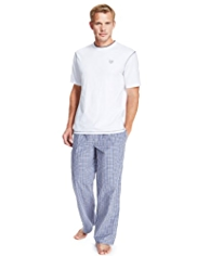 Blue Harbour Pure Cotton Checked Pyjamas