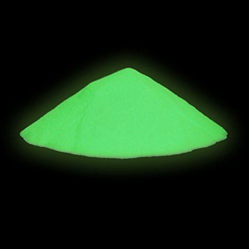 neon nights Polvere fluorescente si illumina al buio Pigmenti luminescenti Neon Colorati 100g, Colore: Giallo-Verde