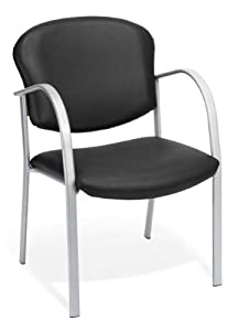 OFM 414-VAM-606 Contract Guest Vinyl Chair, Black