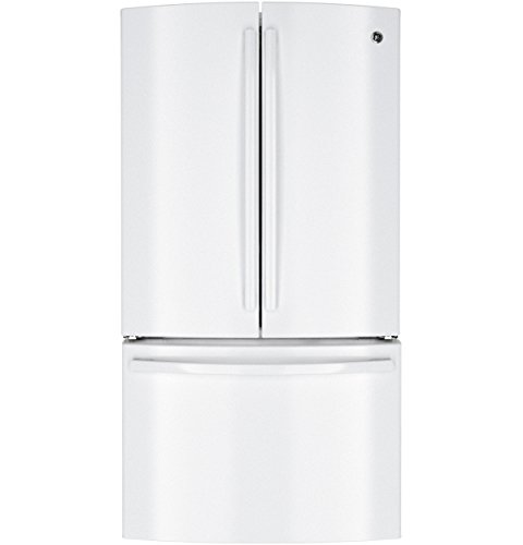 Ge Profile Series Pwe23Kgdww 22.7 Cu. Ft. French Door Refrigerator With 3 Spillproof Glass Shelves, Gallon Door Storage, Humidity Controlled Crispers, Drop-Down Tray And Showcase Led Lighting