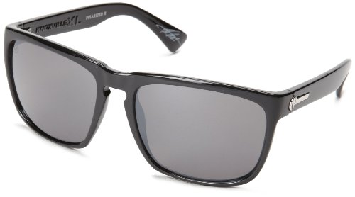 Electric Visual Knoxville Xl Es11201664 Polarized Rectangular Sunglasses,Gloss Black,56 Mm