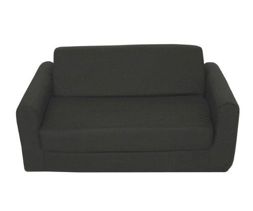 Black Kid's Sofa Chair Sleeper Foam Furniture