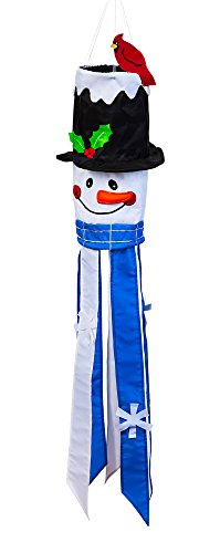 Snowman Applique Sculpt Windsock
