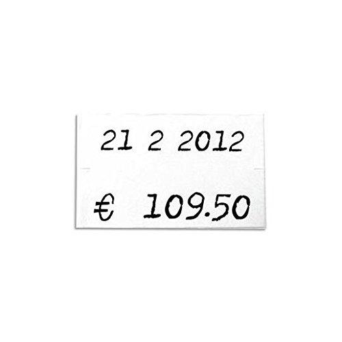 AGIPA Pack 6 rouleaux 1000 étiquettes blanches rectangulaires 26x16mm