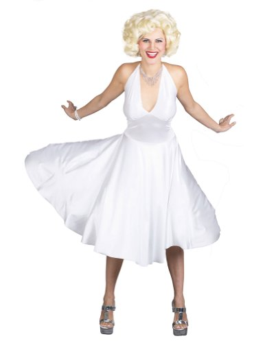 Adult-costume Marilyn Monroe Deluxe Md-lg 8-14 Halloween Costume