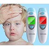 Ear and Forehead Digital Infant Best Accurate Thermometer,Infrared Baby Thermometer with Fever Alarm Function,Clinically Tested Thermometer, Suitable