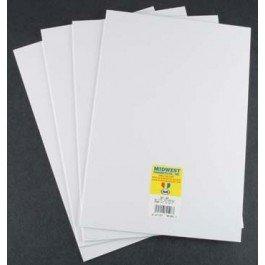 """Styrene Sheets, White, .040 x 7.6"""" x 11"""" (4)"""