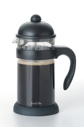 Bonjour Hugo 8-Cup Unbreakable French Press, Black front-149012