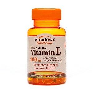 Sundown Naturals Vitamin E With Natural D-Alpha Tocopheryl, 400 Iu 100 Softgels