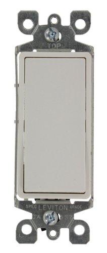 15 Amp 120/277 Volt, Decora Rocker Lighted Handle, Illuminated Off 3-Way AC Quiet Switch, Residential Grade, Ivory/White, 5613